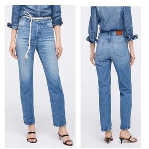 J Crew Stovepipe High Rise Denim Jeans